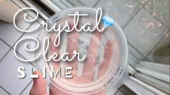 Tutorial Slime Clear | diy crystal clear slime tutorial without borax detergent