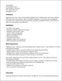 Church Administrator Description by Professional Church Administrative Assistant Templates To