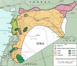Syria On Map by Sectarianism And Minorities In The Syrian Civil War