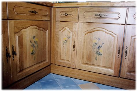 Decorate Cupboard Doors top of the kitchen cabinet floral decor house furniture