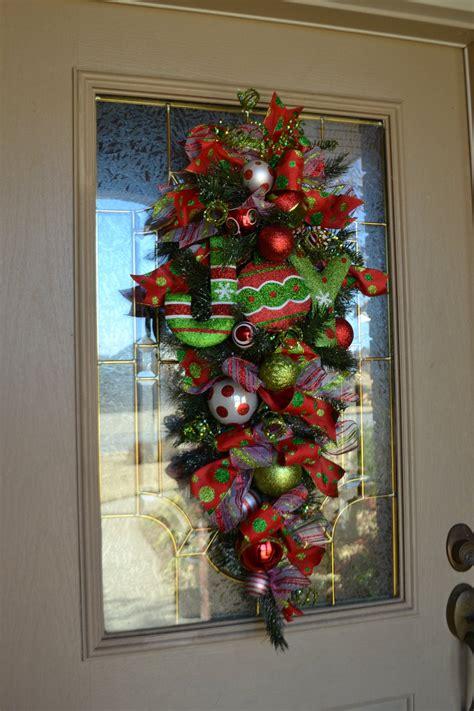 festive joy door swag