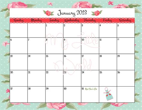 printable quarterly calendar 2013 4 best images of free printable 12 month calendar 2013