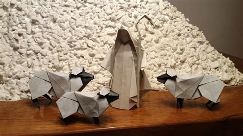 Origami Shepherd - origami sheeps and shepherd by orestigami on deviantart