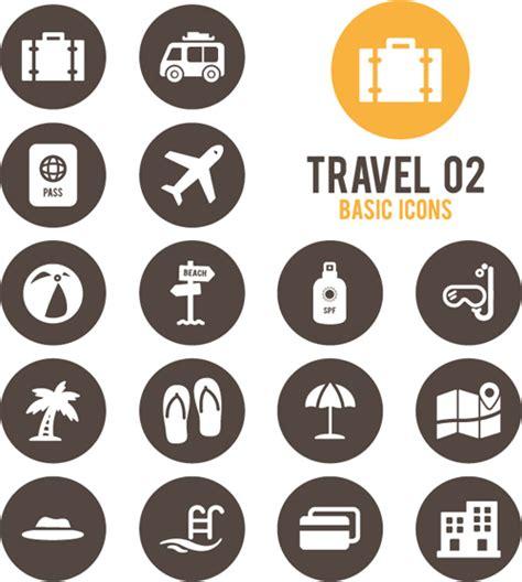 Travel basic icons set   Holidays Icons free download