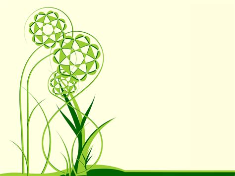 green floral theme powerpoint templates green floral
