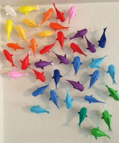 How To Make A 3d Origami Fish - best 25 origami fish ideas on koi origami