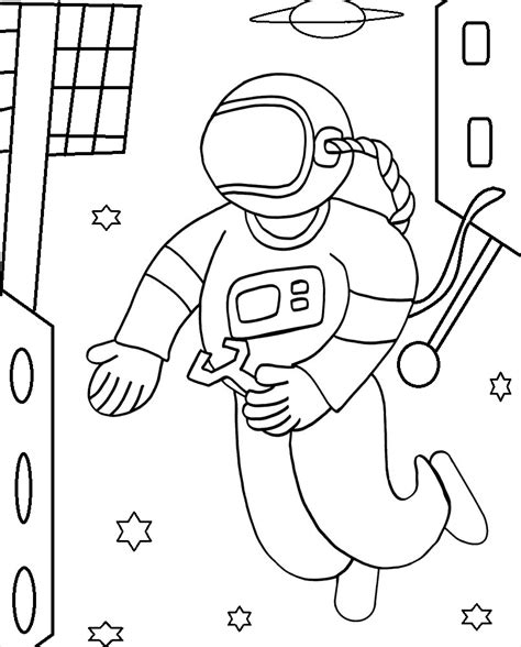 Printable Astronaut Coloring Pages Coloring Me Astronaut Coloring Pages