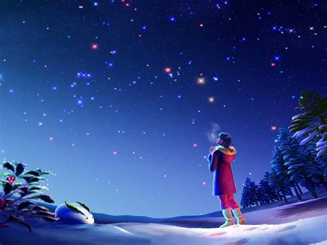 magical night christmas winter sky star hd wallpaper  wallpaperscom