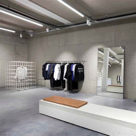 Olaf Hussein store has a Modernism influenced interior