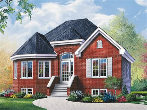 brick ranch house with bay window ranch house plans with