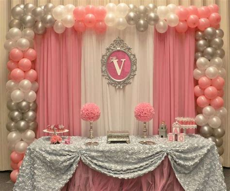 backdrop for baby shower table princess baby shower ideas backdrops