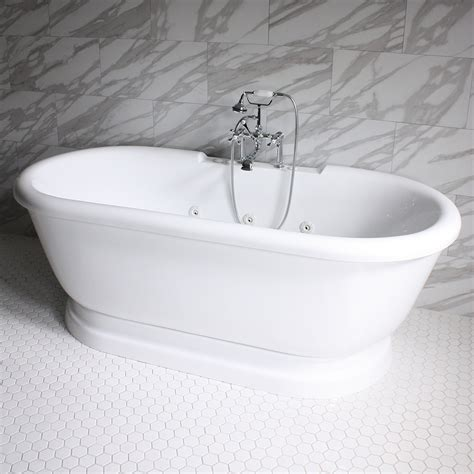 water jet bathtubs 69 quot water jetted sansiro pedestal tub