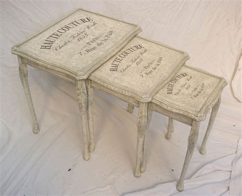 vintage shabby chic nest of tables 10 05 touch the wood