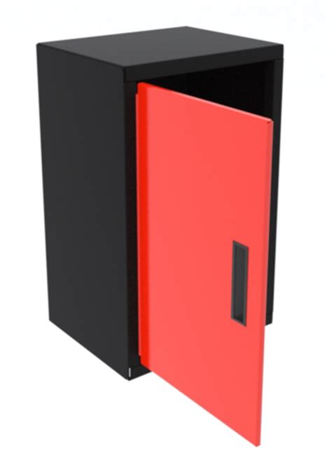 red 15 inch professional grade wall cabinet