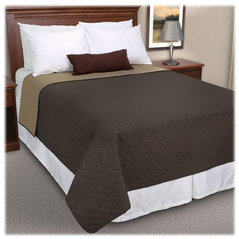 polyester coverlets walker s square reversible quilted coverlets lodgmate