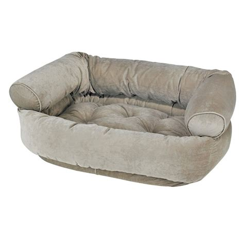 double dog bed bowsers microvelvet double donut dog bed sofa in thyme