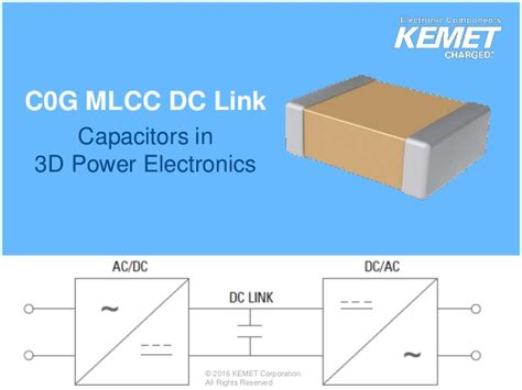 kemet capacitor 3d model bme c0g ceramic dc link evaluation