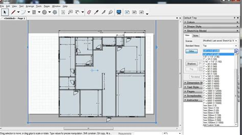 how to do a floor plan in sketchup creating floor plan image file with layout youtube