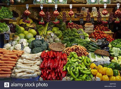 vegetables market produce fruit vegetable market with various colorful