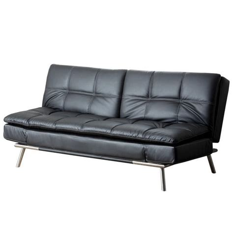 convertible sofa leather abbyson living marquette faux leather convertible sofa in