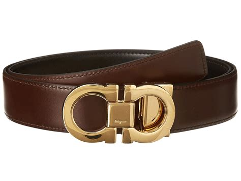 Salvatore Feragamo 6121 2 salvatore ferragamo gancini adjustable reversible belt 671041 at luxury zappos