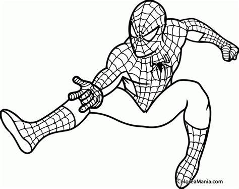 dibujos para colorear de spider man gratis colorear spiderman 02 spiderman dibujo para colorear gratis