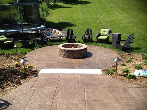 sted concrete patio with pit home ideas