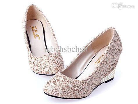 Size 36 37 Wedges Fld cheap wedges dress shoes for beige black color 1prs