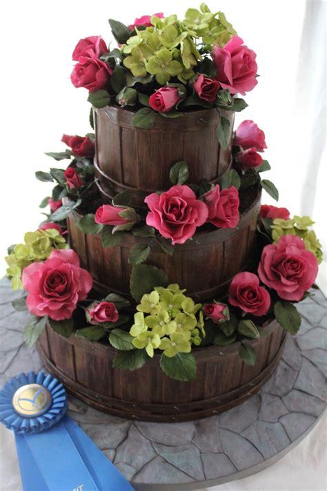 Flower Garden Cake Cakes Pinterest Garden Basket Wedding Cake Cakecentral