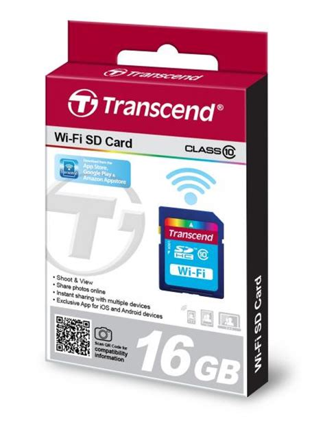 Wifi Memory Card 16gb transcend wi fi sd card sdhc cl10