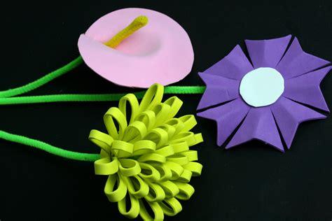 making flowers 3 ways to make a foam flower wikihow