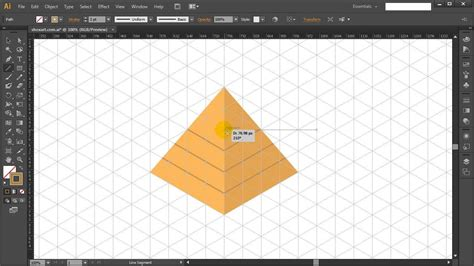 triangle pattern illustrator tutorial how to draw isometric egyptian pyramid in adobe