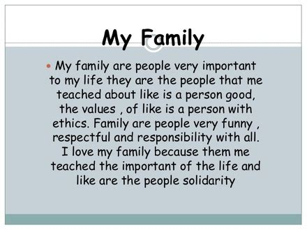my family essay sle paragraph about family motavera