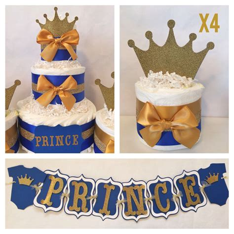 Prince Baby Shower Centerpieces by Prince Baby Shower Package In Royal Blue And Gold