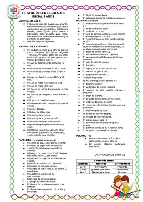 imagenes de utiles escolares para inicial lista de 218 tiles escolares inicial 5 a 209 os