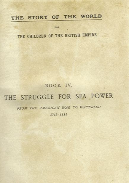 heritage of power books heritage history struggle for sea power by m b synge