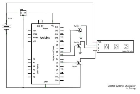rgb led circuit diagram rgb led circuit with arduino use arduino for projects