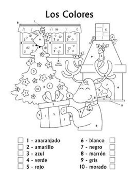 coloring pages for christmas in spanish navidad los colores spanish christmas colors color by