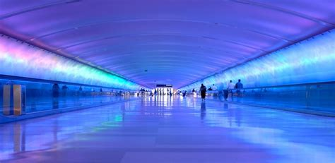 detroit airport light tunnel your layover guide to detroit dtw