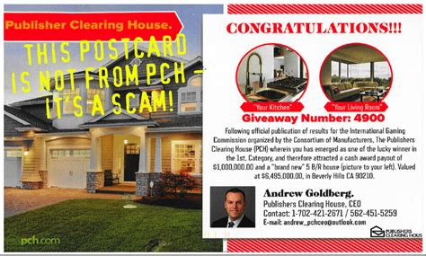 Publishing Clearing House Games - is this postcard really from publishers clearing house no pch blog