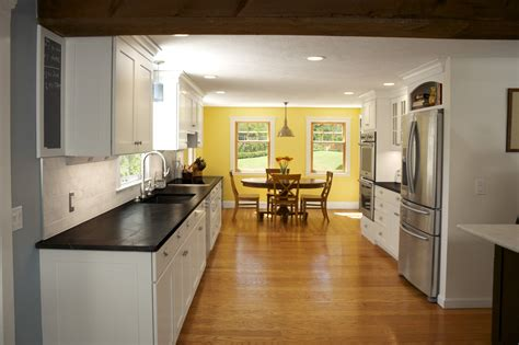 Yellow And White Kitchen Ideas Wonderful White Open Floor Kitchen And Yellow Dining Room