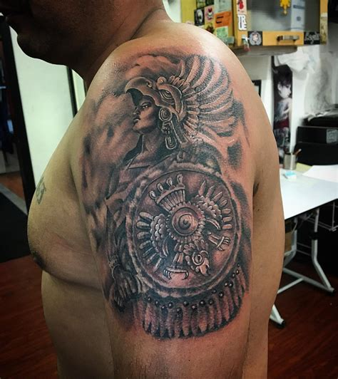aztec warrior tattoo aztec warrior tattoos half sleeve www imgkid the