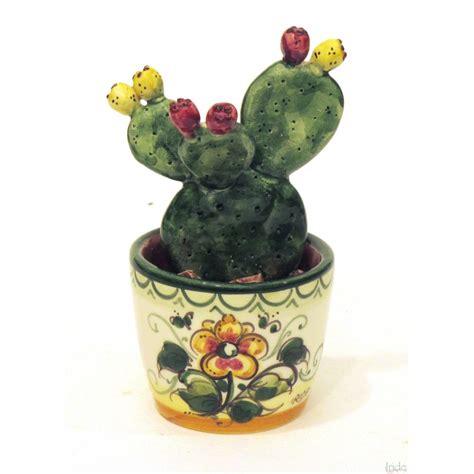 fico d india in vaso vaso fico d india piccolo ceramiche artistiche iride