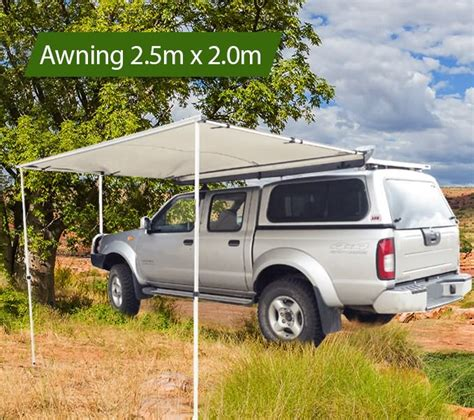 rooftop awning 4x4 2 5m awning roof top tent camper trailer 4wd 4x4 side