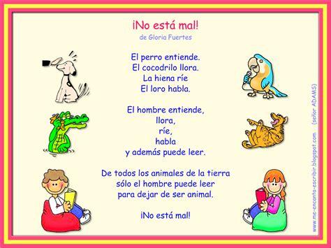 poema de los animales me encanta escribir en espa 241 ol poema 161 no est 225 mal de