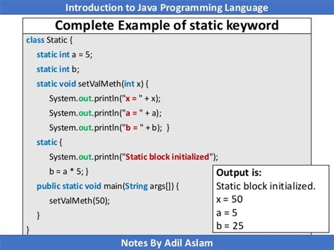 java tutorial this keyword static keyword in java
