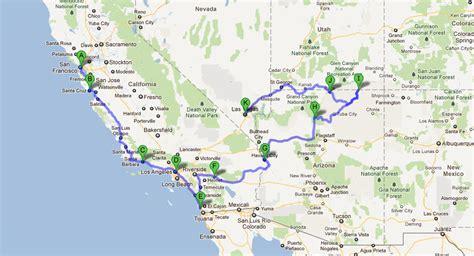 california map eeuu mapa oeste estados unidos