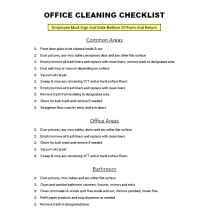 Office Cleaning Checklist Dental Office Cleaning Checklist Template