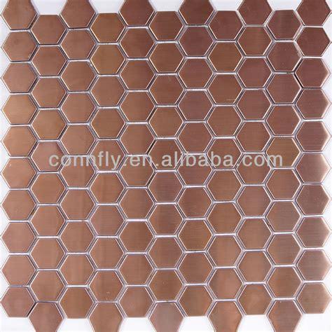 hexagon badezimmerboden fliese antikes kupfer geb 252 rstete edelstahl hexagon mosaik fliese