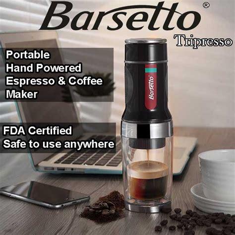 best espresso coffee maker barsetto tripresso hand pressure portable espresso coffee